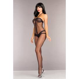 opaque halterneck crotchless bodystocking o/s