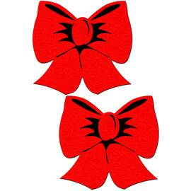 pastease bright red bow