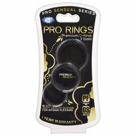 cloud 9 pro sensual silicone cock ring 3 pack black